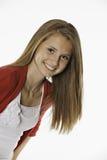 La muchacha femenina adolescente toda sonríe Fotos de archivo