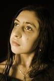 La muchacha gritadora Imagen de archivo