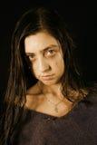 La muchacha gritadora Foto de archivo libre de regalías