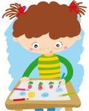 La muchacha hace un drenaje libre illustration