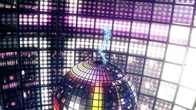 La muchacha hermosa baila en la bola de discoteca Loopable libre illustration