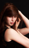 La muchacha hermosa con el pelo tousled Foto de archivo libre de regalías