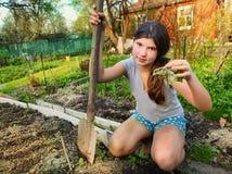 La muchacha hermosa del adolescente elimina Imagen de archivo libre de regalías