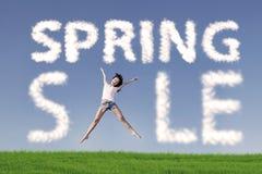 Concepto de salto de la venta de la primavera ilustración del vector