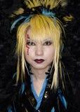 La muchacha japonesa presenta en el equipo de Cosplay en Tokio Foto de archivo libre de regalías