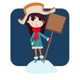 La muchacha le gusta invierno Imagenes de archivo