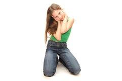 La muchacha los sueños del adolescente Imagen de archivo