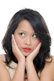 La muchacha mira de lado Imagen de archivo libre de regalías