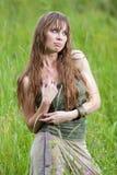 La muchacha mojada en la lluvia Fotografía de archivo libre de regalías