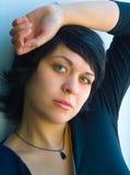La muchacha pensativa Fotografía de archivo libre de regalías