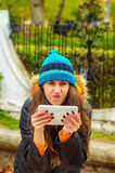 La muchacha que salió mal algo Fotos de archivo libres de regalías