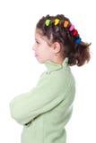 La muchacha que se colocaba con los brazos plegable Imagen de archivo libre de regalías