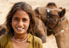 La muchacha sonriente Foto de archivo