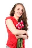 La muchacha sonriente fotos de archivo libres de regalías
