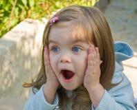 La muchacha sorprendida Imagen de archivo