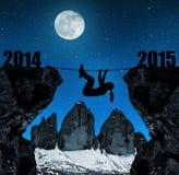 La muchacha sube en el Año Nuevo 2015 Foto de archivo libre de regalías