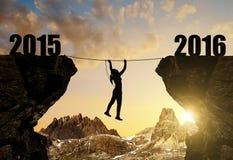 La muchacha sube en el Año Nuevo 2016 Fotografía de archivo libre de regalías
