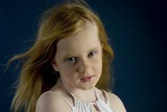La muchacha tiene gusto de un photomodel Fotografía de archivo