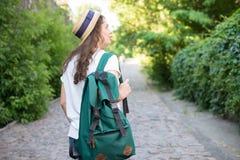 La muchacha tiene viaje Imagenes de archivo
