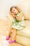 La muchacha triste Fotografía de archivo libre de regalías