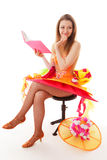 La muchacha y el libro Imágenes de archivo libres de regalías