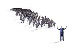 La muchedumbre de hombres de negocios en concepto Foto de archivo