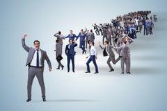 La muchedumbre de hombres de negocios en concepto Fotos de archivo