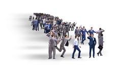 La muchedumbre de hombres de negocios en concepto Fotografía de archivo