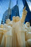 La muchedumbre iluminada en Montreal Fotografía de archivo libre de regalías