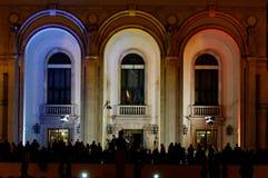 La muchedumbre recolectó en el acontecimiento Fotos de archivo libres de regalías