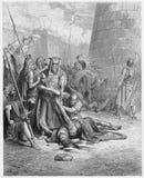 La muerte de Abimelech ilustración del vector