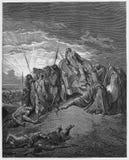 La muerte de Ahab fotografía de archivo