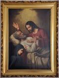 La muerte de San José Imágenes de archivo libres de regalías