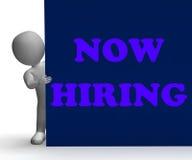 La muestra ahora de alquiler muestra a Job Opportunity And Imagen de archivo