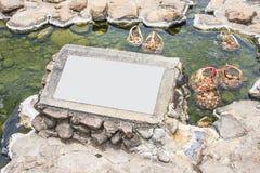 La muestra al lado de las aguas termales naturales Los huevos se pueden empapar para ser Imagenes de archivo