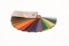 La muestra de cuero colorea el catálogo imagen de archivo libre de regalías