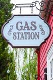 La muestra de la gasolinera Fotografía de archivo libre de regalías
