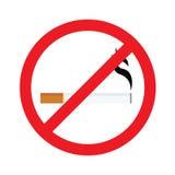 La muestra de no fumadores redonda, abandonó el fumar, icono sin humos, de no fumadores ilustración del vector
