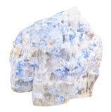 La muestra de Wischnevite azul Vishnevite aisló Foto de archivo libre de regalías
