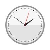 La muestra del círculo del reloj de pared con minuto del contador de tiempo de la alarma de la oficina de la velocidad de la herr Fotografía de archivo libre de regalías