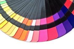 La muestra del espectro de la guía del color muestrea el arco iris Foto de archivo libre de regalías