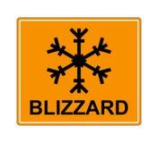 La muestra determinada de la advertencia del invierno muestra el peligro del hielo y de la nieve en la calle, la carretera o el c Foto de archivo libre de regalías