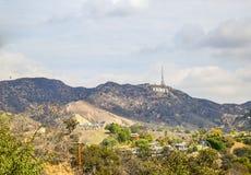 La muestra famosa de Hollywood de la señal Fotos de archivo