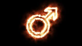 La muestra masculina que se enciende para arriba y que quema en llamas