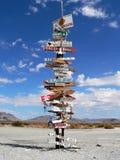 La muestra poste de la montaña del hierro Imagen de archivo libre de regalías