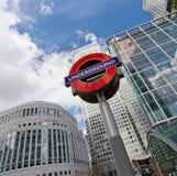 La muestra subterráneo de Londres Foto de archivo libre de regalías