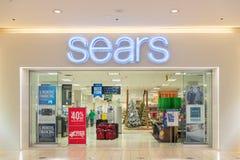 La muestra y la entrada de la tienda al por menor de Sears fotos de archivo
