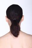 La mujer asiática después de compone estilo de pelo ningún retoque, ingenio de la cara fresca Imagen de archivo libre de regalías