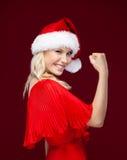La mujer bonita es muy feliz Fotos de archivo libres de regalías