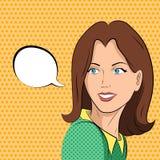 La mujer cómica dice Imagenes de archivo